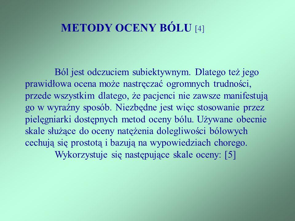 METODY OCENY BÓLU [4]